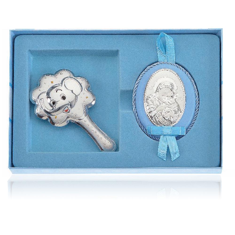 сребърен комплетъчен подарък за кръщене